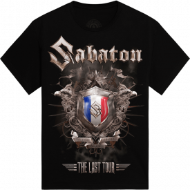 Lille - France The Last Stand Tour 2017 Sabaton Exclusive T-shirt Frontside