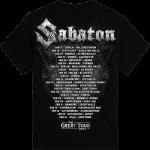 Nordic Worrior The Great EU Tour 2020 Sabaton T-shirt Backside