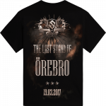 Orebro - Germany The Last Stand Tour 2017 Sabaton Exclusive T-shirt Backside