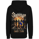 Sabaton The Great EU Tour 2020 Zip Hoodie Backside