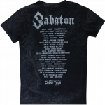 The Great EU Tour 2020 Sabaton Vintage T-shirt Backside