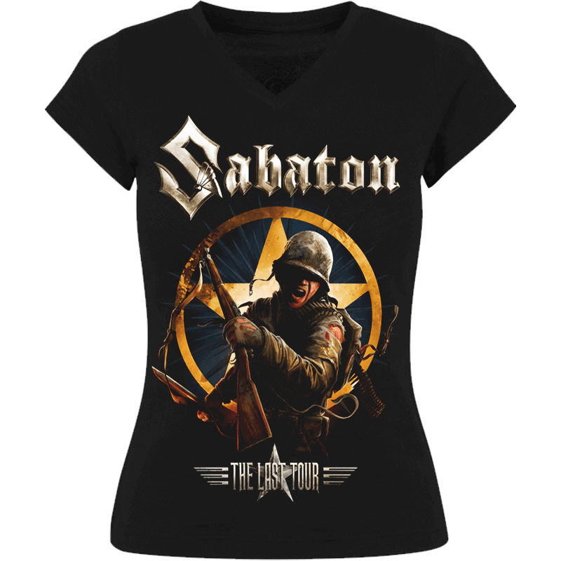 The Last European Tour 2017 Sabaton T-shirt Women Frontside