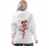 Nature of the Beast White Sabaton Hoodie Women Model Backside