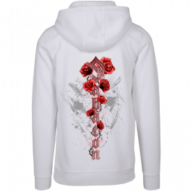 Nature of the Beast White Sabaton Hoodie Women Backside