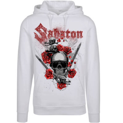 Nature of the Beast White Sabaton Hoodie Women Frontside