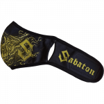 Sabaton face mask folded leftside
