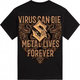 Metal Lives Forever Sabaton T-shirt Backside