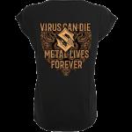 Metal Lives Forever Sabaton T-shirt Women Backside