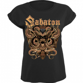 Metal Lives Forever Sabaton T-shirt Women Frontside