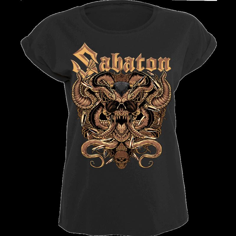 Metal Lives Forever Sabaton T-shirt Women Frontside