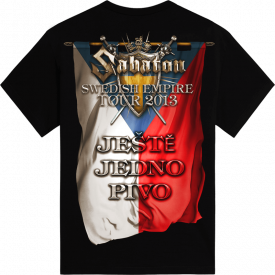 Jeste jedno pivo Swedish Empire Live Tpur 2013 in Czech Sabaton T-shirt Backside