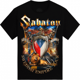 Jeste jedno pivo Swedish Empire Live Tpur 2013 in Czech Sabaton T-shirt Frontside