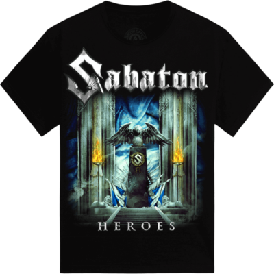 Glasgow Heroes on European Tour 2014 Sabaton T-shirt Frontside