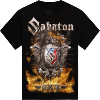 Masters of Rock The Last Tour 2017 Sabaton T-shirt Frontside