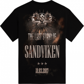 Sandviken The Last Stand Tour 2017 Sabaton T-shirt Backside