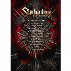 Sabaton Swedish Empire Live in Poland DVD Back Cover with Tracks