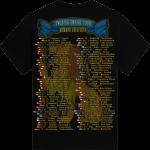 Swedish Empire Tour Europe 2012-2013 Sabaton T-shirt Backside