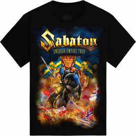 Swedish Empire Tour Europe 2012-2013 Sabaton T-shirt Frontside