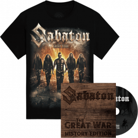 The Great War History Edition Digi + The Great Tour of North America 2019 Sabaton Official T-shirt Bundle
