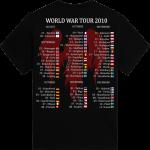 World War Tour 2010 Sabaton T-shirt Backside