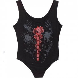 Nature of the Beast Sabaton Black Bodysuit Women Backside