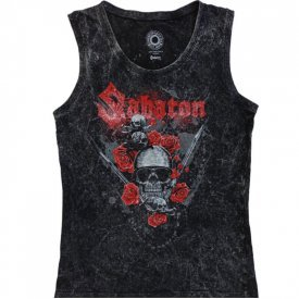 Nature of the Beast Vintage Sabaton Tank Top Women Frontside