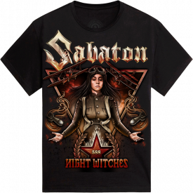 Night Witches Sabaton T-shirt Frontside