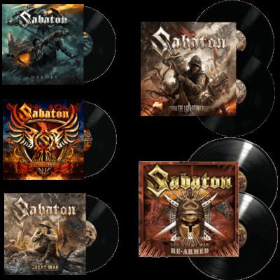 Sabaton 5 Vinyls LP Bundle