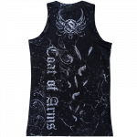 Coat of Arms All Over Print Sabaton Tank Top Women Backside