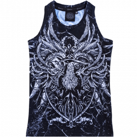 Coat of Arms All Over Print Sabaton Tank Top Women Frontside