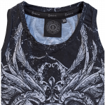 Coat of Arms All Over Print Sabaton Tank Top Women Neckline Closeup