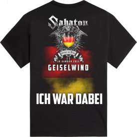 Geiselwind Heroes on Tour 2015 Sabaton T-shirt Backside