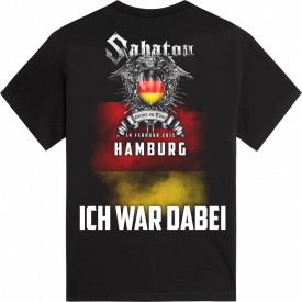Hamburg Heroes on Tour 2015 Sabaton T-shirt Backside