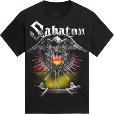 Hamburg Heroes on Tour 2015 Sabaton T-shirt Frontside