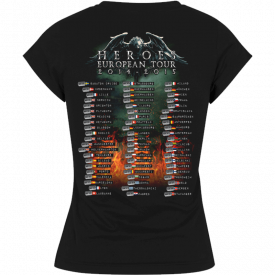 Heroes on European Tour 2014-2015 V-Neck Sabaton T-shirt Women Backside