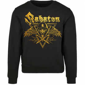 Poison Gas Sabaton Black Crewneck Frontside