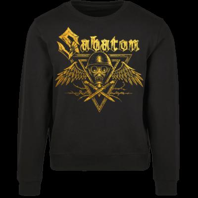 Poison Gas Sabaton Black Crewneck Frontside