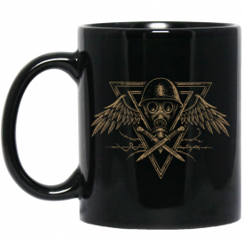 Poison Gas Black Sabaton Mug Rightside with a Box side