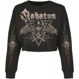 Poison Gas Sabaton Cropped Crewneck Women Frontside