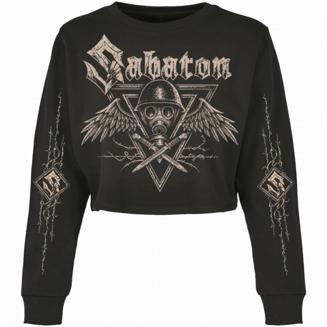 Poison Gas Cropped Crewneck Women