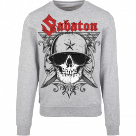 Unknown Soldier Sabaton Grey Crewneck Frontside