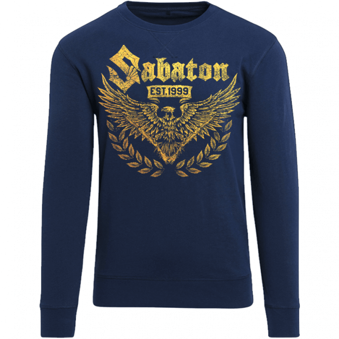 War and Peace Gold Eagle Navy Crewneck
