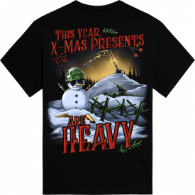 X-mas Presents are Heavy Exclusive Sabaton T-shirt Backside
