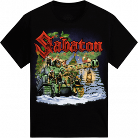 X-mas Presents are Heavy Exclusive Sabaton T-shirt Frontside