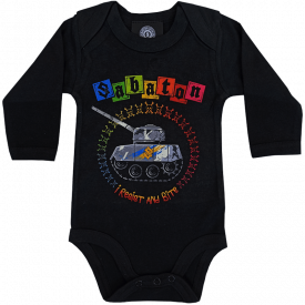 Resist and Bite Sabaton Baby Bodysuit Frontside
