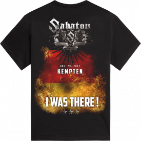 Kempten The Last Stand Tour 2017 Sabaton T-shirt Backside