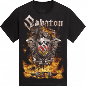 Kempten The Last Stand Tour 2017 Sabaton T-shirt Frontside