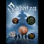 Sabaton Button Badge Set
