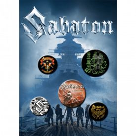 Sabaton Button Badge Set