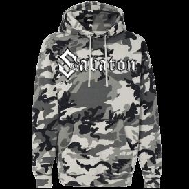 Sabaton Logo Winter Camo Hoodie Frontside